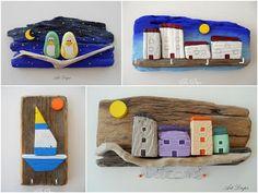 maisons sur planche