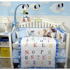 Bedroom, Baby Crib Bedding For Boys Alphabet Baby Bedding Set For Your Bright Tiny Tot Modern Rustic Bedroom Design Ideas: Neutral Color Baby Bedding for Boys Inspirations Baby Boy Crib Bedding, Baby Boy Cribs, Kids Bedding Sets, Nursery Bedding Sets, Baby Boy Rooms, Baby Bedroom, Baby Room Decor, Nursery Room, Cradle Bedding