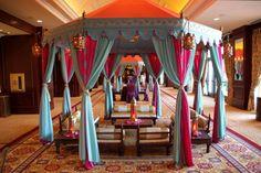 Colorful Raj Tents #sangeet #indianwedding #weddinginspiration