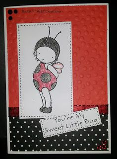 BaRb'n'ShEll Creations - My Favorite Things Ladybug stamped card - made by Shell