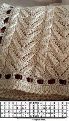 Lace Knitting Patterns, Knitting Stiches, Knitting Charts, Crochet Stitches, Baby Knitting, Stitch Patterns, Knitting Machine, Crochet Shawl, Crochet Lace