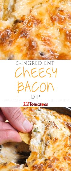 Cheesy Bacon Dip   As long as you've got cream cheese, sour cream, bacon and cheddar cheese, you're good to go….. It's totally indulgent, but this dip is without a doubt our favorite party recipe.