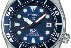 To be released soon in Japan for the Seiko Prospex Sumo PADI Limited SBBN039 Diver 200m that comes with Red insert index with blue dial PADI color and available only 1000