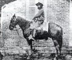 Very rare photo of mounted Confederate Trooper. John Bowman 2nd. Tennessee Cav.