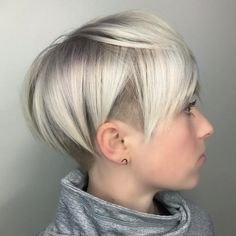 Blonde Pixie With Side And Nape Undercut