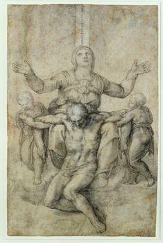 Pietà. c. 1538-44 - by Michelangelo Buonarroti - Isabella Stewart Gardner Museum, Boston, MA