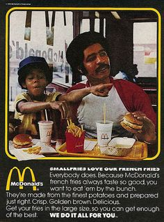 1976 McDonalds Ad - Smallfries love our french fries | Flickr - Photo Sharing!