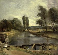 John Constable  Flatford Lock | Flickr - Photo Sharing!