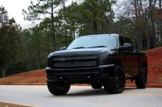 blacked out chevy