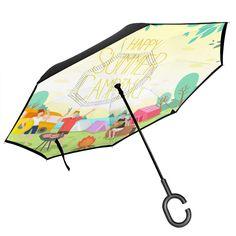 AIYAMAYA Reverse Umbrella Free of Car Umbrella Wind and Rain Color : 03
