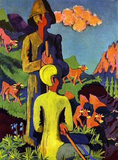 Ernst Ludwig Kirchner, Hirten am Abend, 1937