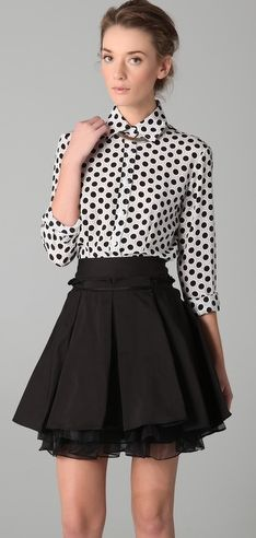 not really a fan of the shirt. but love the skirt.