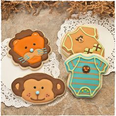 Onesie Baby Shower Cookies - how absolutely adorable are these?