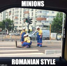 Minions were spotted in Romania - Best Funny Pictures, Funny Images, Image Memes, Can't Stop Laughing, Funny Comics, Haha, Hilarious, Budapest, Countries