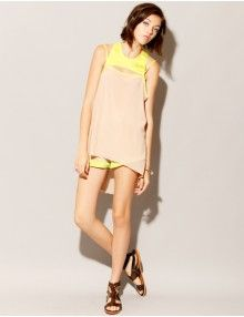 Fluoro Cut Out Top