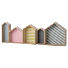 Bloomingville House Shaped Wood Display Box