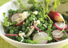 spring salad week at Bon Appetit - this pea salad with radishes and feta looks yummy!