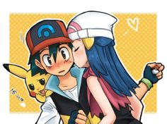 Ash and Dawn (Kiss it)
