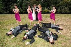 But with the boys real shotguns-not loaded! Group Photography Ideas: 20 Creative Wedding Poses for Bridal Party. Funny bridal party pose my-fantasy-wedding Wedding Fotos, Funny Wedding Photos, Wedding Pictures, Wedding Photographie, Perfect Wedding, Dream Wedding, Wedding Shot, Fantasy Wedding, Wedding Rsvp
