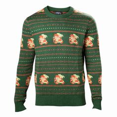 New Zelda 'The Legend of Santa' Knitted Unisex Christmas Jumper/Sweater up for preorders at Harry Potter Christmas Sweater, Ugly Christmas Sweater, Xmas Sweaters, Knitting Sweaters, Knitted Christmas Jumpers, Christmas Knitting, Sweater Weather, The Legend Of Zelda, Ugly Sweater