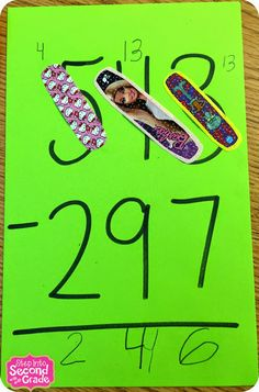 Double- or triple-digit subtraction. With BAND-AIDS. Genius motivator. See blog.