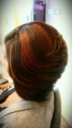 Beautiful Bob And The Color Is Spot On sew in hairstyles for black women 2014 Swing Bob Hairstyles, Inverted Bob Hairstyles, Sew In Hairstyles, My Hairstyle, Black Hairstyles, Bob Haircuts, Relaxed Hairstyles, Hairstyle Ideas, Layered Bob Hairstyles For Black Women