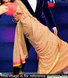 Buy Anushka Sharma Golden Sequence Saree anushka-sharma-saree online