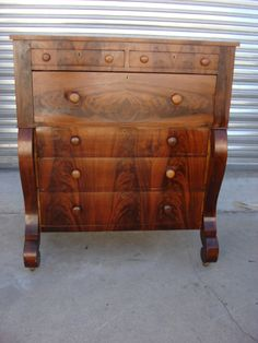 Rare 1960s bedroom set dresser credenza chest headboard for American empire bedroom furniture