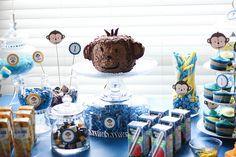 Mod monkey themed 1st birthday party. #birthday #party