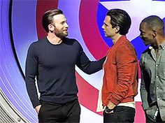 Chris touching Seb and Anthony creepily behind Seb is something I would do lol. just