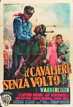The Lone Ranger (Warner Brothers, Italian 2 - Fogli X Luigi Martinati Artwork. - Available at 2017 March 25 - 26 Vintage. Western Film, Western Movies, Cinema Posters, Film Posters, Michael Ansara, Clayton Moore, Italian Posters, The Lone Ranger, Original Movie Posters