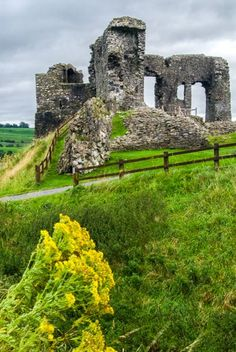 The ruins of the 12th century Kendal Castle, Cumbria, England