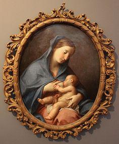 Pompeo Batoni, madonna che allata il bambino Museo d'arte di San Paolo Brasile