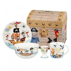 Little Rhymes Pirates Breakfast Set in a Treasure Chest Gift Box