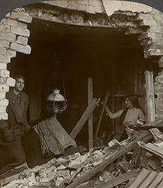 London home damaged by World War I German zeppelin raids. (Credit: Getty Images)