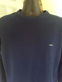 Patagonia Men's Blue Long Sleeve Capilene Athletic Shirt Size L #Patagonia…