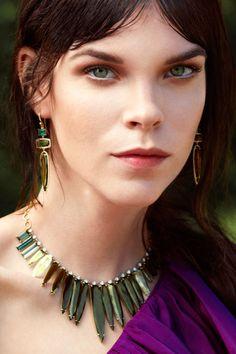 Irene Neuwirth  green Tourmaline and Aquamarine necklace