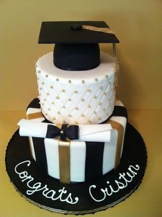 Graduation cake, love the design but I'd change the colours to my colour scheme #TopshopPromQueen