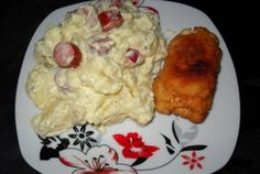 Retete Culinare - Salata nemteasca Dinner Recipes, Chicken, Meat, Cocktails, Food, Salads, Cocktail Parties, Hoods, Meals