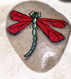 Hand Painted Rock by Christine Purdy More
