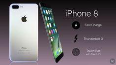คอนเซ็ปต์ iPhone 8 มาพร้อม Touch Bar ใต้หน้าจอ และรองรับ Fast Charge