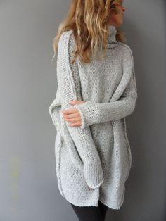 Suéter de punto Slouchy / grande y voluminoso. Las mujeres