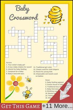 baby shower crossword | bumble bee baby shower ideas
