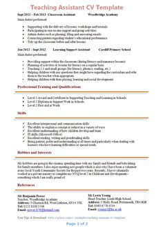 recommendation letter sample for teacher aide http www - Cover Letter For A Teaching Assistant Job
