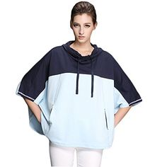 Minibee Women's Loose Hoodie 3/4 Raglan Sleeve Coat with Pockets Navy Blue Minibee http://www.amazon.com/dp/B00VM43O5Q/ref=cm_sw_r_pi_dp_ertCvb1FX3YMF