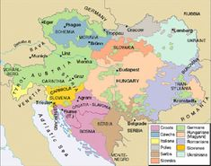 Map showing how the Habsburg Empire was peopled by various races.