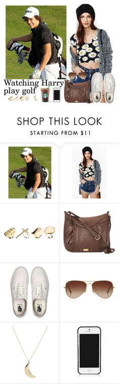 """""""Watching Harry play golf"""" by stellasmathio ❤ liked on Polyvore featuring beauty, New Look, Nine West, Vans, Rayban, ASOS and Tory Burch"""