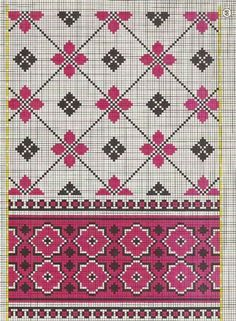 Lesley van Blerk's media content and analytics Tapestry Crochet Patterns, Crochet Stitches Patterns, Loom Patterns, Crochet Motif, Beading Patterns, Embroidery Patterns, Knitting Patterns, Cross Stitch Borders, Cross Stitch Flowers