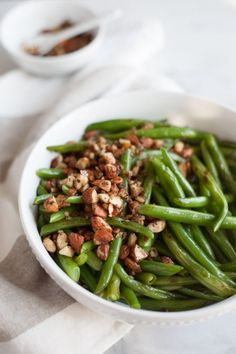 ... Roasted Green Beans with Almonds, Shallots and Garlic, a quick side