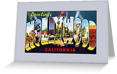 Vintage Greetings from Hollywood California by aapshop